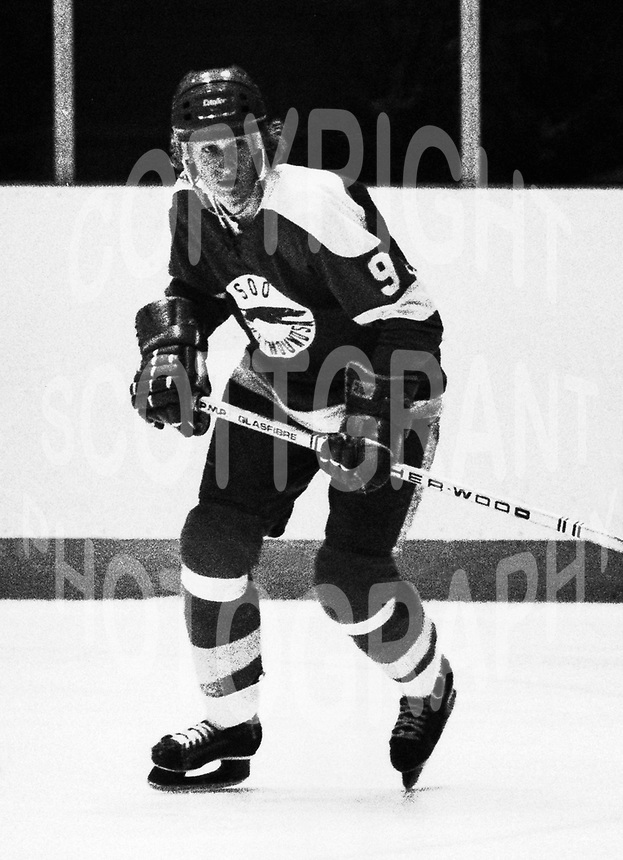 Wayne Gretzky 1978 Soo Greyhounds. Photo F. Scott Grant