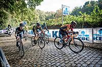 breakaway group with Mark Cavendish (GBR/Bahrain-McLaren) up the Kemmelberg cobbles <br /> <br /> 82nd Gent-Wevelgem in Flanders Fields 2020 (1.UWT)<br /> 1 day race from Ieper to Wevelgem (232km)<br /> <br /> ©kramon