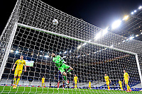 24th March 2021; Stade De France, Saint-Denis, Paris, France. FIFA World Cup 2022 qualification football; France versus Ukraine;  The instinct save from Georgiy Bushchan (Ukraine)