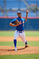 GCL Mets relief pitcher Cesar Loaiza (89) delivers a pitch during a game against the GCL Marlins on August 3, 2018 at St. Lucie Sports Complex in Port St. Lucie, Florida.  GCL Mets defeated GCL Marlins 3-2.  (Mike Janes/Four Seam Images)