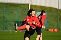 20200911 - TUBIZE , Belgium : Hannah Eurlings pictured during the training session of the Belgian Women's National Team, Red Flames ahead of the Women's Euro Qualifier match against Switzerland, on the 28th of November 2020 at Proximus Basecamp. PHOTO: SEVIL OKTEM | SPORTPIX.BE
