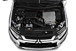 Car Stock 2020 Mitsubishi Outlander-PHEV Business 5 Door SUV Engine  high angle detail view