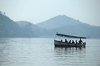 Asie/Inde/Rajasthan/Udaipur : Bateau sur le lac Pichola