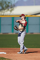 Nicholas Spardone (3) of Fred J. Page High School in Thompsons Station, Tennessee during the Baseball Factory All-America Pre-Season Tournament, powered by Under Armour, on January 13, 2018 at Sloan Park Complex in Mesa, Arizona.  (Zachary Lucy/Four Seam Images)