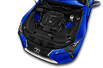 Car stock 2018 Lexus LC Blue Edition 2 Door Coupe engine high angle detail view