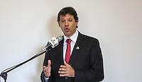 SAO PAULO, SP, 05 MARÇO DE 2013 - LANÇAMENTO Expo 2020 - O prefeito de São Paulo Fernando Haddad durante lançamento da candidatura de São Paulo como sede da Expo 2020, nesta terça-feira, 05. (FOTO: VANESSA CARVALHO / BRAZIL PHOTO PRESS)..