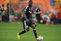 Washington, D.C.- March 29, 2014. Eddie Johnson (7) of D.C. United.  The Chicago Fire tied D.C. United 2-2 during a Major League Soccer Match for the 2014 season at RFK Stadium.