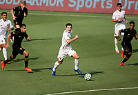 LOS ANGELES, CA - AUGUST 22: Sacha Kljestan #16 of the Los Angeles Galaxy moves to the ball during a game between Los Angeles Galaxy and Los Angeles FC at Banc of California Stadium on August 22, 2020 in Los Angeles, California.