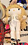 "GAGA version Kitty doll, Dec 01, 2013 : Tokyo, Japan : Singer Lady GAGA holds ""GAGA version Kitty"" doll during a press conference for her new album ""ARTPOP"" in Tokyo, Japan, on December 1, 2013."