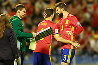 Spain's Nacho Fernandez (l) and Gerard Pique during FIFA World Cup 2018 Qualifying Round match. October 6,2017.(ALTERPHOTOS/Acero) /NortePhoto.com /NortePhoto.com