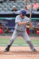 Charlie Cuttler of Team Israel at bat during a game against Team Spain during the World Baseball Classic preliminary round at Roger Dean Stadium on September 21, 2012 in Jupiter, Florida. Team Israel defeated Team Spain 4-2. (Stacy Jo Grant/Four Seam Images)
