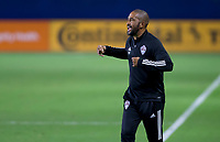 CARSON, CA - SEPTEMBER 19: Colorado Rapids head Coach Robin Frazier during a game between Colorado Rapids and Los Angeles Galaxy at Dignity Heath Sports Park on September 19, 2020 in Carson, California.