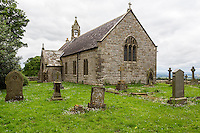 Northumberland, England, UK.  St. Oswald's Church (1737 A.D.), between Turrets 25A and 25B, Hadrian's Wall Footpath, north side of B6318.