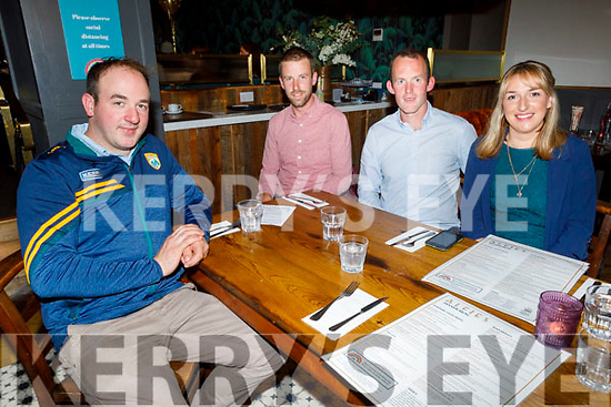 Pa Lucid, Ger Meehan, John Casey and Orla Thornton enjoying the evening in the Ashe Hotel on Saturday.