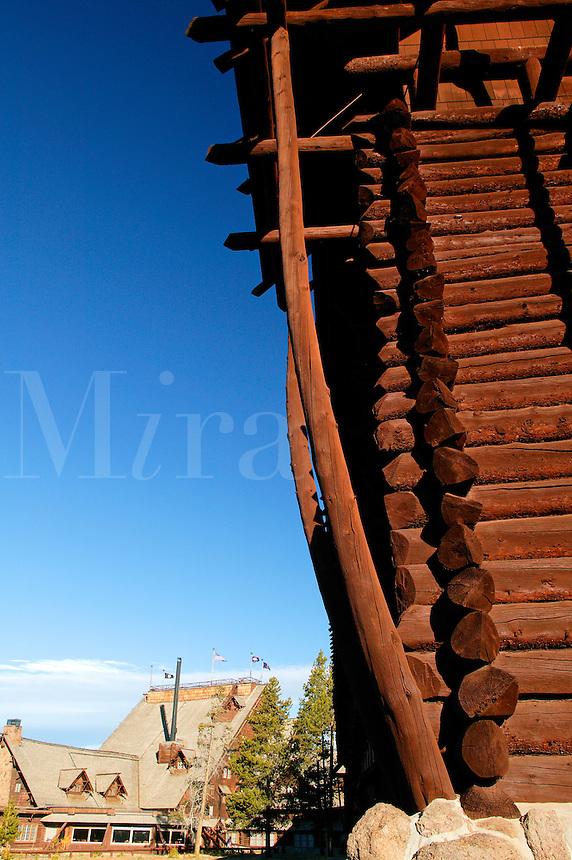 Old Faithful Lodge, Yellowstone National Park, Wyoming.