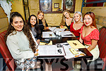 Enjoying the evening in the Brogue Inn on Friday. L to r: Keilin Dacosta, Lucy Cunningham, Aisling Fitzsimmons, Aisling Dennigan, Jean Brennan and Anie Devaney.
