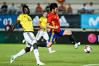 David Jimenez Silva os Spain holds off pressure from  Davison Sanchez of Colombia during the friendly match between Spain and Colombia at Nueva Condomina Stadium in Murcia, jun 07, 2017. Spain. (ALTERPHOTOS/Rodrigo Jimenez) (NortePhoto.com) (NortePhoto.com)