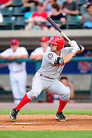 Auburn Doubledays outfielder Rhett Wiseman (2) during a game versus the Lowell Spinners at Lelacheur Park on July 25, 2015 in Lowell, Massachusetts. (Ken Babbitt/Four Seam Images)