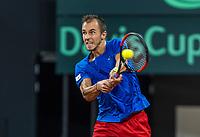 The Hague, The Netherlands, September 17, 2017,  Sportcampus , Davis Cup Netherlands - Chech Republic, Fifth match : Lukas Rosol (CZE) <br /> Photo: Tennisimages/Henk Koster