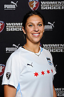 Carli Lloyd of the Chicago Red Stars during the unveiling of the Women's Professional Soccer uniforms at the Event Place in Manhattan, NY, on February 24, 2009. Photo by Howard C. Smith/isiphotos.com