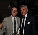 """PIETRANGELO BUTTAFUOCO CON ALAIN ELKANN<br /> PRESENTAZIONE LIBRO """"RACCONTI"""" DI ALAIN ELKANN HOTEL MAJESTIC ROMA 2014"""