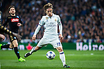 Luka Modric in action  during the match of Champions League between Real Madrid and SSC Napoli  at Santiago Bernabeu Stadium in Madrid, Spain. February 15, 2017. (ALTERPHOTOS)