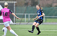 Nicky Van Den Abbeele (28 Brugge) pictured during a female soccer game between Club Brugge Dames YLA and Eendracht Aalst Ladies on the 9 th matchday of the 2020 - 2021 season of Belgian Scooore Womens Super League , saturday 12 December 2020  in Brugge , Belgium . PHOTO SPORTPIX.BE | SPP | DAVID CATRY