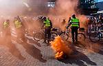 Nederland, Utrecht 11-10-2015, Pegida Protest tegen Islamisering van Europa en Nederland. Vredenburg . foto Michael Kooren/.