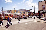 Pacific and Dundas intersection at the Junction neighbourhood in Toronto, Canada