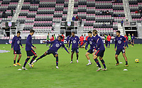 FORT LAUDERDALE, FL - DECEMBER 09: The United States warming up during a game between El Salvador and USMNT at Inter Miami CF Stadium on December 09, 2020 in Fort Lauderdale, Florida.