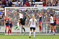 Houston, TX - Sunday Oct. 09, 2016: Lynn Williams, Kelsey Wys during the National Women's Soccer League (NWSL) Championship match between the Washington Spirit and the Western New York Flash at BBVA Compass Stadium.