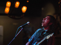 """Matt Eley of The Modern Savage shreds during the release party for Emma Hill's """"Ten Years"""" album at Taproot."""