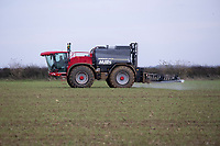 16.11.2020 Spaying Winter cereals with herbicide and insecticide <br /> ©Tim Scrivener Photographer 07850 303986<br />      ....Covering Agriculture In The