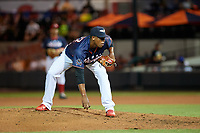 Lakeland Flying Tigers pitcher Gerson Moreno (37) during the Florida State League All-Star Game on June 17, 2017 at Joker Marchant Stadium in Lakeland, Florida.  FSL North All-Stars defeated the FSL South All-Stars  5-2.  (Mike Janes/Four Seam Images)