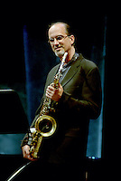 Montreal (Qc) CANADA, June 27 1997-<br /> Michael Brecker play with Herbie Hancock at<br /> Montreal Jazz Festival<br /> -Photo (c)  Images Distribution