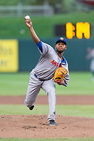 Amarillo Sod Poodles starting pitcher Emmanuel Ramirez (40) during a Texas League game against the Springfield Cardinals on April 25, 2019 at Hammons Field in Springfield, Missouri. Springfield defeated Amarillo 8-0. (Zachary Lucy/Four Seam Images)