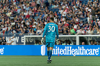 FOXBOROUGH, MA - AUGUST 3: Matt Turner #30 of New England Revolution during a game between Los Angeles FC and New England Revolution at Gillette Stadium on August 3, 2019 in Foxborough, Massachusetts.