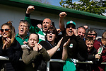 North Ferriby fans celebrating the equalising goal scored by Wayne Brooksby. Vanarama National League North, Promotion Final, North Ferriby United v AFC Fylde, 14th May 2016.