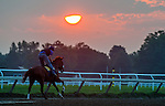 Sunrise at the Oklahoma Training Track on Whitney Handicap Day at Saratoga Race Course in Saratoga Springs, New York on August 4, 2012