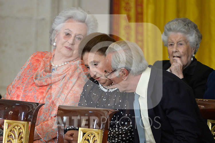 Princess Margarita de Borbon (l) and Pilar de Borbon. June 18 ,2014. (ALTERPHOTOS/Pool)