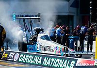 Oct 14, 2019; Concord, NC, USA; NHRA top fuel driver Justin Ashley during the Carolina Nationals at zMax Dragway. Mandatory Credit: Mark J. Rebilas-USA TODAY Sports