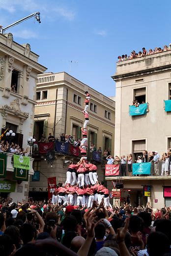 Vilafranca del Pnedes, Barcelona, Catalonia, childrens day, castellas