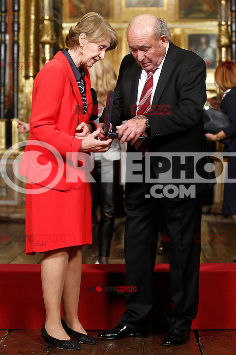 José Antolin Toledano, Spanish industrialist and winner of the businesmen of the year prize with his wife. November 23, 2016.(ALTERPHOTOS/Acero) //NORTEPHOTO