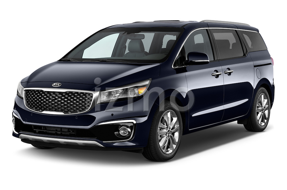 2015 KIA Sedona SX Limited 4 Door Minivan Angular Front stock photos of front three quarter view