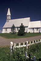 church, Gaspe Peninsula, Quebec, Canada, Acadian church on the Gaspe Peninsula in Quebec.