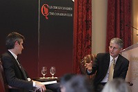 Montreal, CANADA February 24, 2015 -<br /> <br /> Claudio Fernandez-Araoz, Senior Adviser at Egon Zehnder and Charles Guay, Executive Vice President, Institutional Markets - Manulife Canada and President & CEO , Manulife Quebec, speak  at the Canadian Club of Montreal, February 23, 2015.<br /> <br /> Photo : Agence Quebec Presse - Pierre Roussel