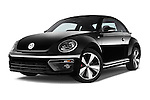 Stock pictures of low aggressive front three quarter view of a 2014 Volkswagen Beetle Sport R-Line 3 Door Hatchback 2WD Low Aggressive
