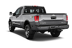 Car pictures of rear three quarter view of a 2014 Nissan Titan PRO 4-X King Cab 2WD 2 Door Truck Angular Rear