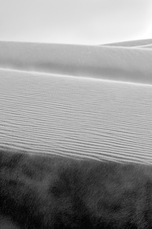 Wind blown sand. White Sands National Monument. New Mexico