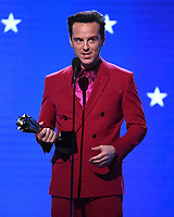 SANTA MONICA, CA - JANUARY 12: Andrew Scott accepts the Best Supporting Actor in a Comedy Series award for 'Fleabag' onstage at the 25th Annual Critics' Choice Awards at the Barker Hangar on January 12, 2020 in Santa Monica, California. (Photo by Frank Micelotta/PictureGroup)